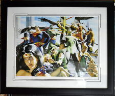 JUSTICE LEAGUE Of AMERICA - ARENA Ltd Ed LITHOGRAPH #23/350 SIGNED Alex Ross COA