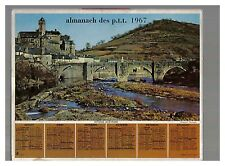 ALMANACH CALENDRIER  PTT  1967 BE ANNIVERSAIRE