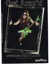2004 WASHBURN DIME3STL Electric Guitar DIMEBAG DARRELL Vtg Print Ad