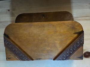 Wooden Letter Rack Vintage Carved