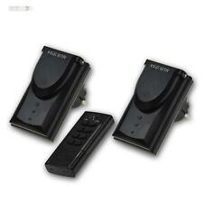 Enchufe RADIOCONTROLADO Set con mando a distancia, 2x Radio 1000w, exterior ip44