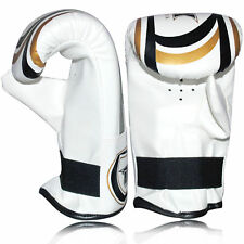 Punching Training Mitts MMA Sparring Gel Padded Leather Gloves Punch Bag Pro