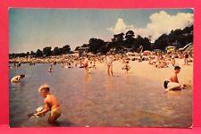 Postcard CT East Lyme Rocky Neck State Park Beach Sunbathers  A6