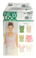 New Look 6945 Misses Top Sewing Pattern Size 8-18 OOP UNCUT Button Down 7 Styles