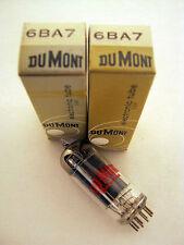 2 NOS Dumont 6BA7 Audio Radio Vacuum Tubes NIB