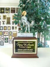 Loser Last Place Individual Bobblehead Horses Rear Trophy Fantasy Football