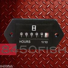 Hour Meter - 6-80 VDC -  for Boat,Truck,Tractor - Rectangular
