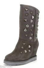 "AUSTRALIA LUXE Collective WEDGE SHEARLING FUR Studded Boots8 Sheepskin NEW4""GIFT"