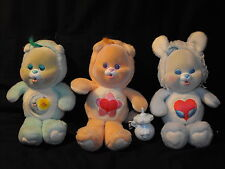 1980s Care Bears Lot of 3 Cubs Lil' Swift Heart, Proud Heart & Bedtime Dolls