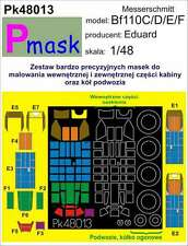 MESSERSCHMITT Bf-110 C/D/E/F PAINTING MASK TO EDUARD KIT #48013 1/48 PMASK