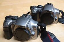 2x Canon EOS 300D / Digital Rebel 6.3 MP Fotocamera Reflex Digitale-Argento (Solo Corpo)