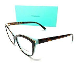 Tiffany TF2192F 8134 Havana Women Cat Eye Demo Lens Eyeglasses Frame 54 mm