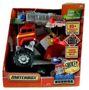 Matchbox Big Rig Buddies Smokey The Fire Truck Talking NEEDS Batteries NOTES
