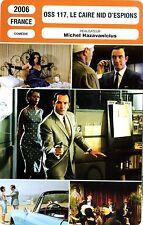 Fiche Cinéma. Movie Card. OSS 117, Le Caire nid d'espions (France) 2006