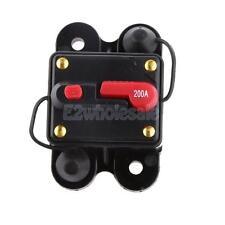 200 Amp Manual Reset Circuit Breaker 12v/24v Car Auto Boat Audio Fuse Holder