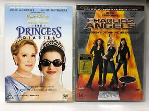 Charlie's Angels + The Princess Diaries - 2 DVD Pack - AusPost with Tracking
