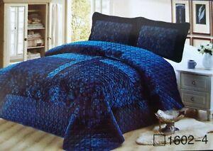Luxury Velvet  Coverlet / Bedspread Set Queen &  King Size Bed 230x250cm