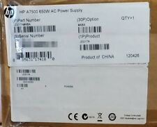 NEW HP A7500 / H3C S7500E 650W AC Power Supply JD217A LSQM1AC650 PSR650-A