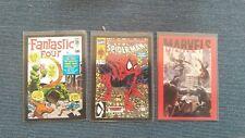 Lot 3 carte Marvel C1- C20- C26 /36 spiderman fantastic four super heroes Panini