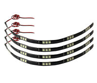 4 led moto scooter auto Universelle Bande 15 LED Blanc Froid