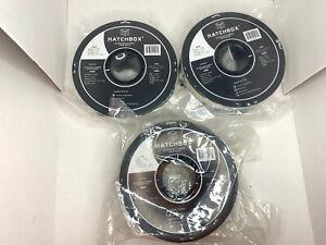 3 PK, HATCHBOX ABS 3D Printer Filament, 1 kg Spool, White 1.75 mm, FREE SHIP