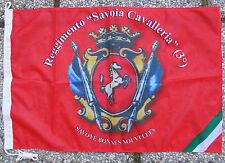 """Bandiera REGGIMENTO """"SAVOIA CAVALLERIA (3°)"""" Savoye Bonnes Nouvelles - (50X75)"""
