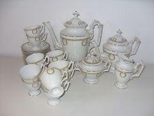 Schönes Porzellan Kaffeeservice 19. Jhdt. im Empire Stil