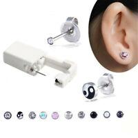 Safe Disposable No Pain Sterile Ear Stud Earring Stude Piercing Gun Piercer Tool