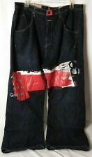 Marithe Francois Girbaud Baggy Zp Fly Hip Hop Jeans Pants Dark Wash Blue 42x34