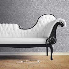 MURIVA COUTURE TEXTURED SPARKLE WALLPAPER - SILVER - 701352