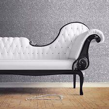 Muriva Costura Con Textura DESTELLOS Papel Pintado - PLATA - 701352