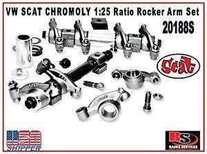 VW SCAT CHROMOLY 1:25 Ratio Rocker Arm Set 20188S  Aircooled typ1 Radke