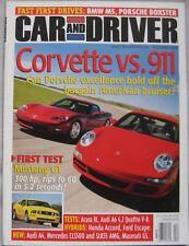 Car & Driver magazine December 2004 featuring Porsche, Corvette, Audi, Ford
