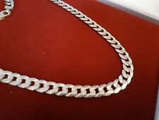 10k solid yellow gold curb chain for men 1.24mm thick, 6.6mm width, 52.7cm long