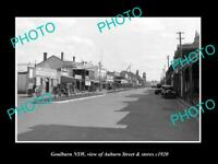OLD 8x6 HISTORIC PHOTO OF GOULBURN NSW VIEW OF AUBURN St & STORES c1920