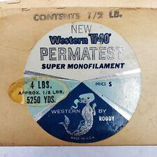 Vintage Roddy Permatest Monofilament Sealed 5250 Yards