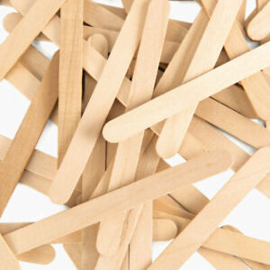 Natural 50 Pack Birch Wooden Lollipop Lolly Sticks Craft Garden Wood