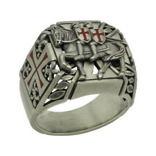 Knights Templars Masonic Sterling Silver 925 Mens Ring Handcrafted US Sizes