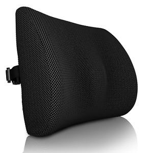 Memory Foam Back Support Cushion 3D Orthopaedic Posture Lumbar Pain Relief