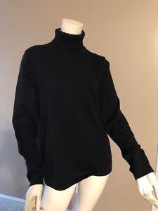 Talbots Womens Turtleneck Sweater Top BLACK  Large