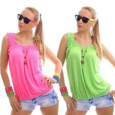 Ärmellose taillenlange Damenblusen, - Tops & -Shirts aus Polyester in Kurzgröße