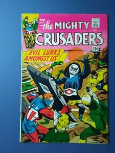 The MIGHTY CRUSADERS #3 F.- 1966 Fly, Shield, Comet & Black Hood