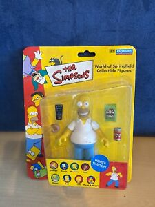 VINTAGE THE SIMPSONS HOMER WORLD OF SPRINGFIELD TOY PLAYMATES NEW SEALED