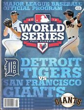 2012 World Series Program San Francisco Giants vs Detroit Tigers Verlander Posey