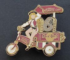 Hard Rock Cafe Metal Pin Badge Atlantic City USA Lady 3 Wheel Bicycle 6th Anniv