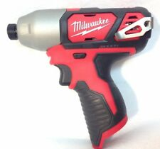 "Milwaukee 2462-20 New M12 12 Volt Li-Ion 1/4"" Cordless Hex Impact Driver Bare"