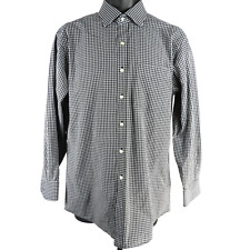 Tommy Hilfiger Black & White Checkered Long Sleeve Button Up Shirt Men's Size M
