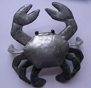 Silver Crab Decoration Seaside Beach  FREE POST  sea creatures  nautical