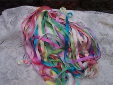 "VARIEGATED 100% PURE SILK RIBBON ASSORTMENT 25 YD 1/2"" [13MM] WIDE 1 YD LENGHTS"
