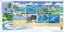 Kiribati 2008 FDC Phoenix Island Protected Area 6v M/S Cover Birds Sharks Stamps